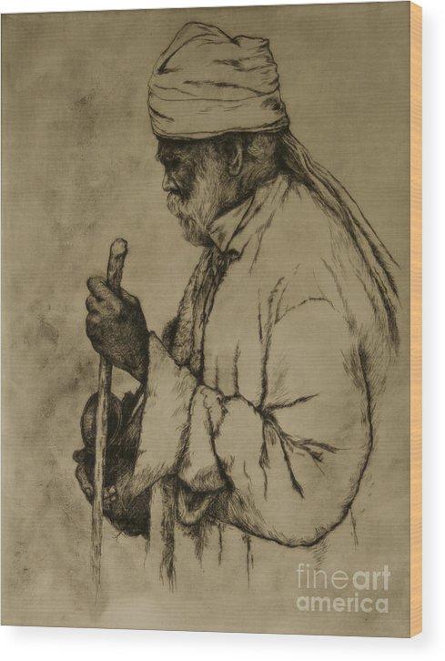 Goa Wood Print featuring the print Pilgrim by Tim Thorpe