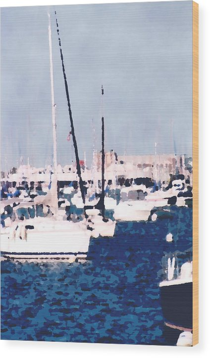 Boats Wood Print featuring the photograph Boats In Summer by Katriel Jean-Baptiste