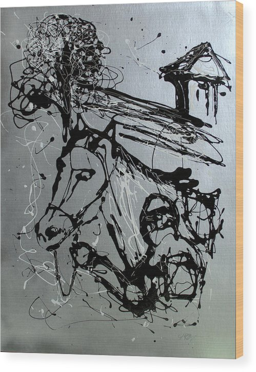 Race Horse Wood Print featuring the painting Race Day by J R Seymour