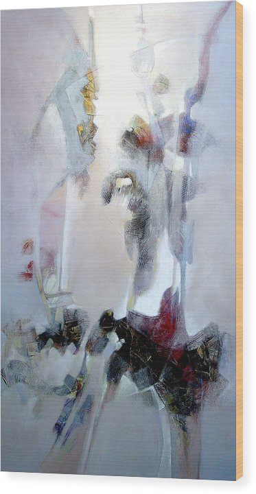 Abstract Wood Print featuring the painting Dignity by Dale Witherow