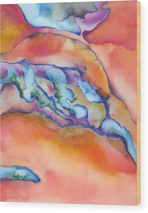 Absract Wood Print featuring the painting Abstract 1 by Mindy Lighthipe