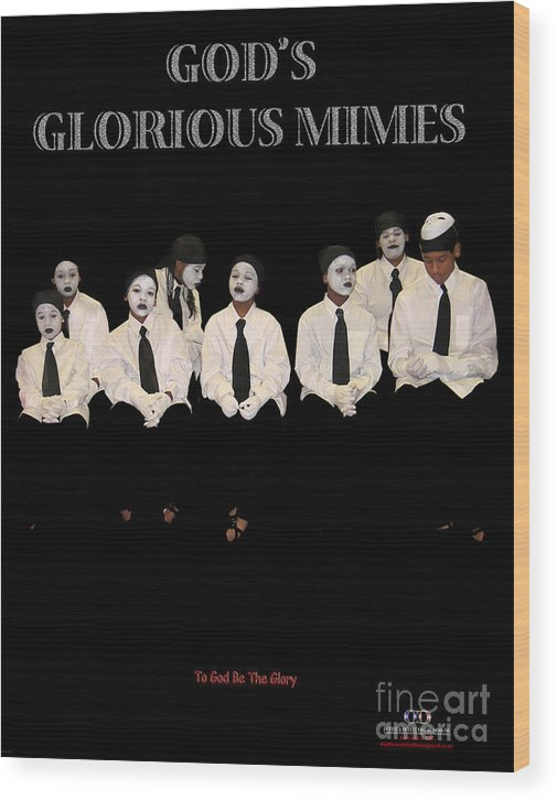 Young Mimes Waiting To Perform For God Wood Print featuring the photograph God by Reggie Duffie