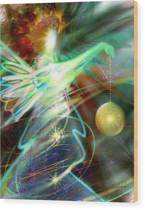 Angel Wood Print featuring the digital art Lite Brought Forth By The Archkeeper by Stephen Lucas