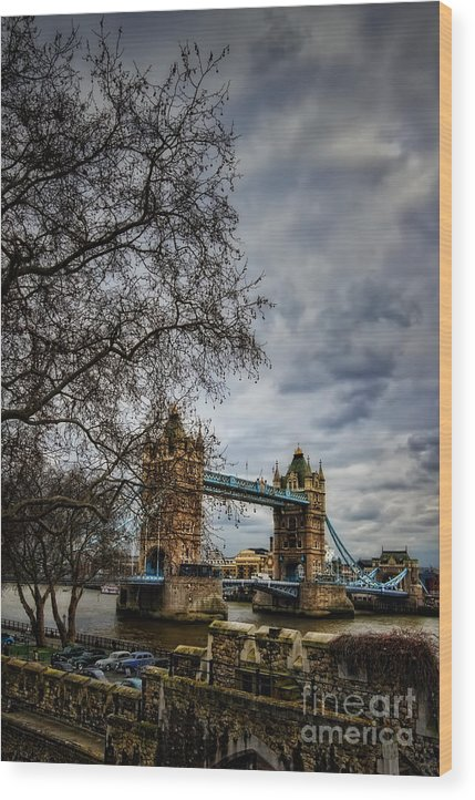 Architecture Wood Print featuring the photograph Tower Bridge by Tamson