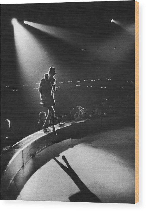Shadow Wood Print featuring the photograph April In Paris Ball by Slim Aarons