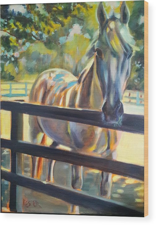 Wood Print featuring the painting Hot and Humid by Kaytee Esser