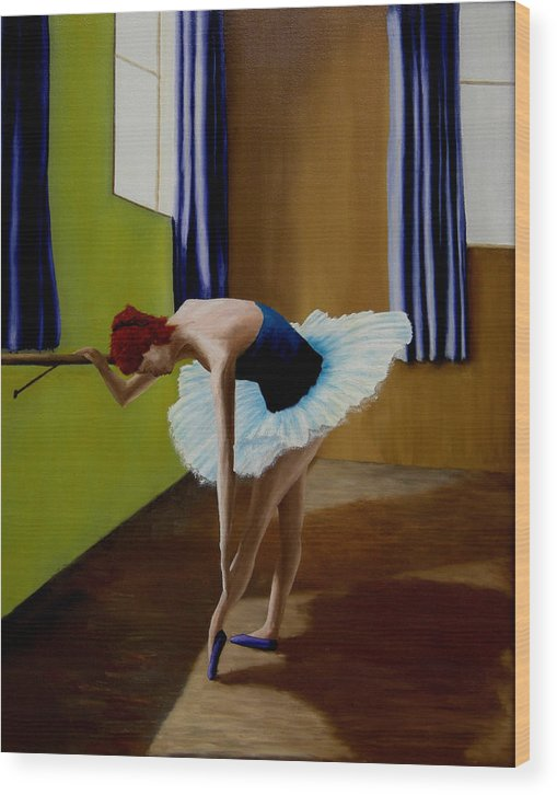 Ballerina Wood Print featuring the painting Light And Shaddow by Ivan Rijhoff