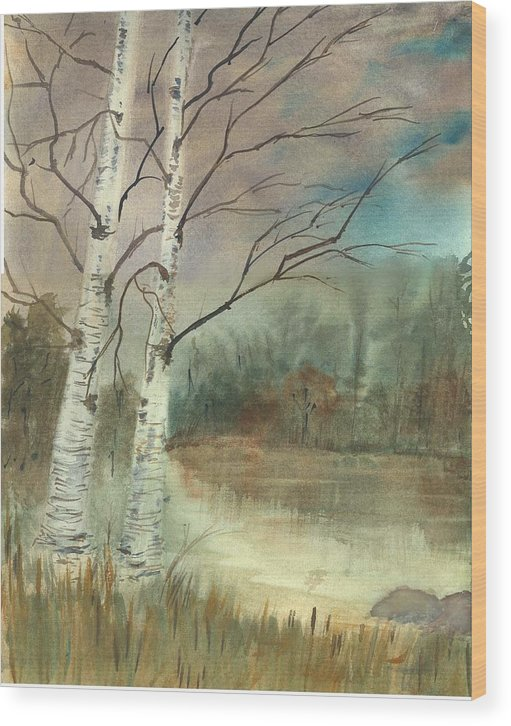 Landscape Wood Print featuring the print We Two by George Markiewicz