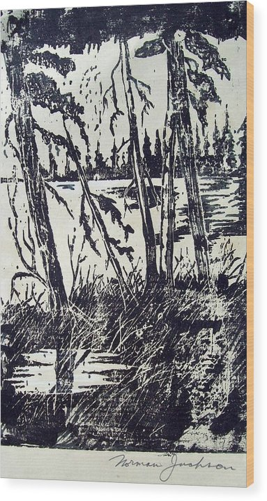 Woods Wood Print featuring the painting Blackwell by Norman F Jackson