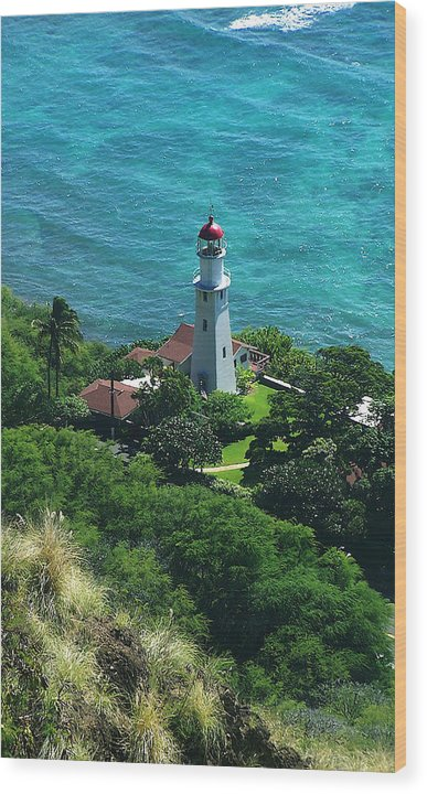 Oahu Wood Print featuring the photograph Oahu Lighthouse by Michael Lewis
