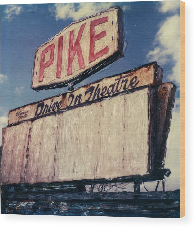 Polaroid Wood Print featuring the photograph Pike Drive-in by Steven Godfrey