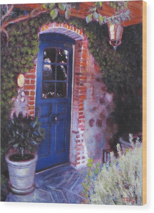 Landscape Wood Print featuring the painting Fine French Restraunt French Laundry With Rosemary by Takayuki Harada