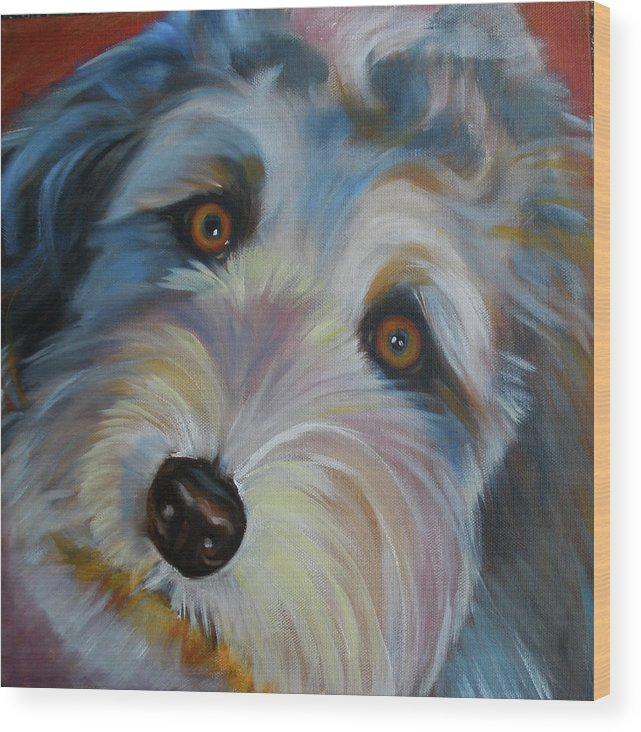 Animal Wood Print featuring the painting Muffin by Kaytee Esser