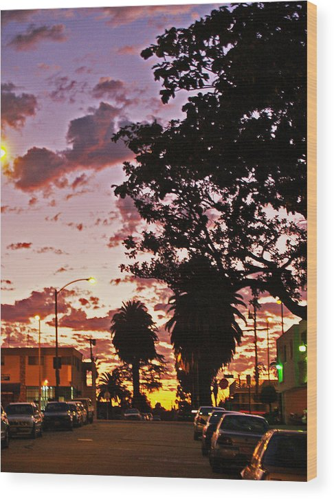 Libra.love.freedom Wood Print featuring the photograph Neighborhood Silhouette by D Wash