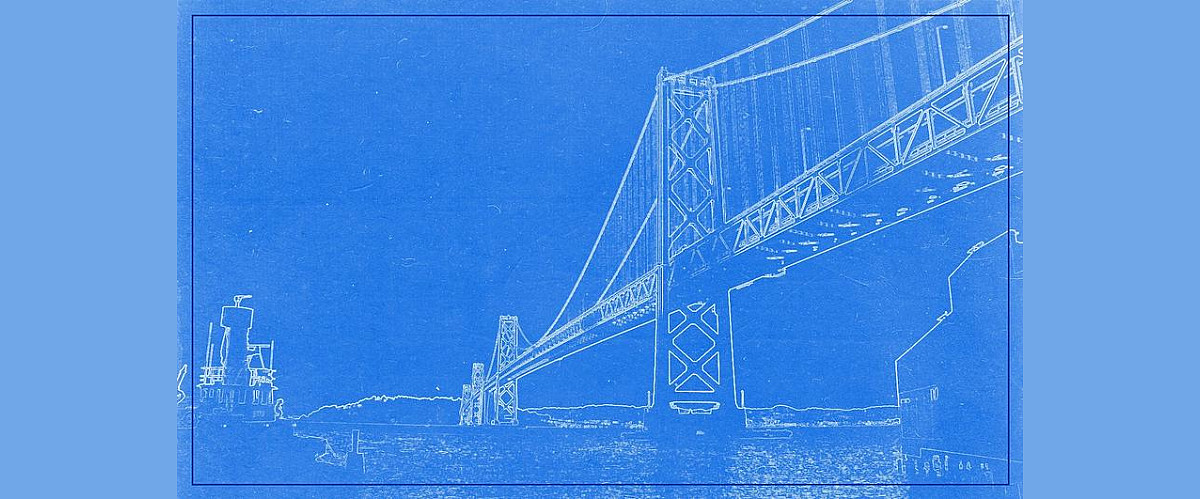 Blueprint of suspension bridge coffee mug for sale by celestial images unwrapped image malvernweather Image collections