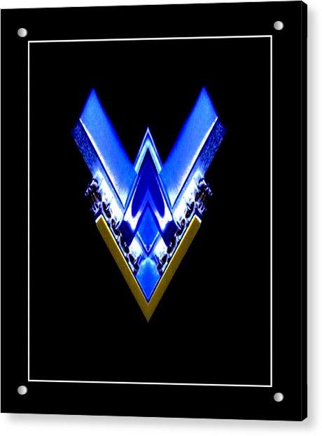 Blue Arrow Acrylic Print