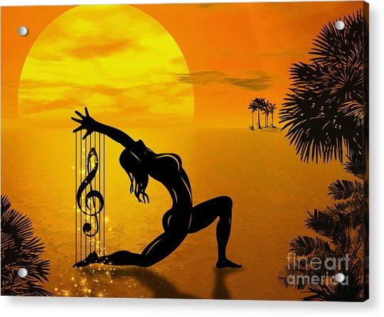 Harpist Acrylic Print by Andrzej Szczerski