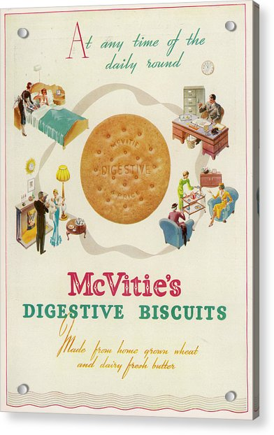 METAL SIGN WALL PLAQUE MCVITIES DIGESTIVE BISCUITS Vintage poster Advert Print