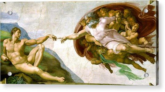 The Creation Of Adam Acrylic Print
