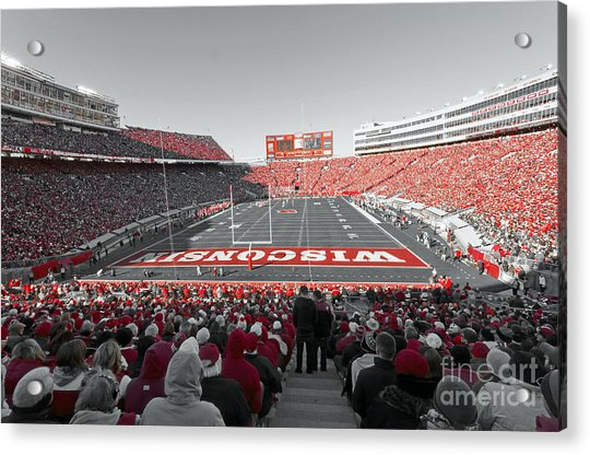 0096 Badger Football Acrylic Print