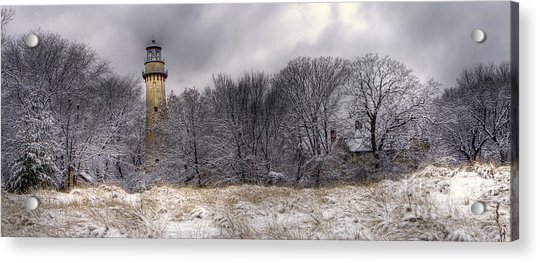 0243 Grosse Point Lighthouse Evanston Illinois Acrylic Print