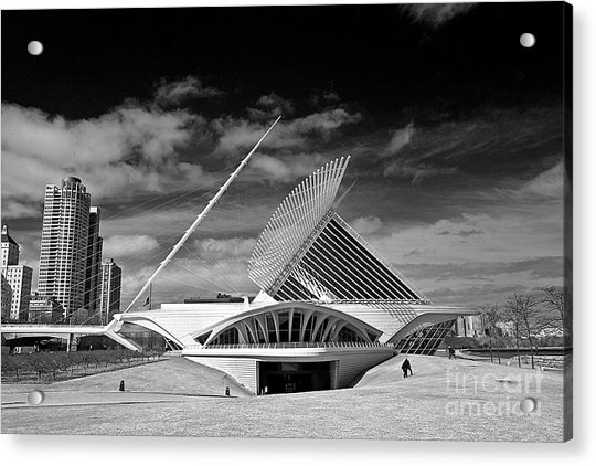 0352 Milwaukee Art Museum Infrared Acrylic Print
