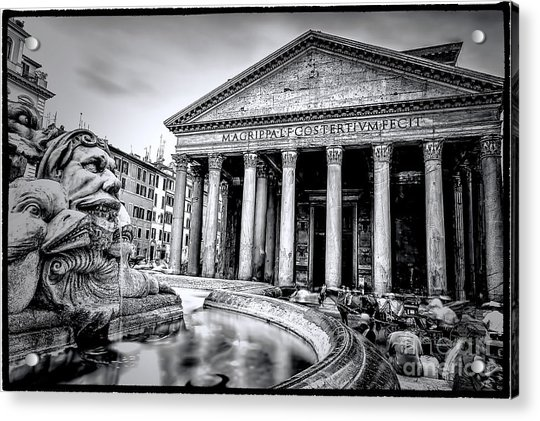 0786 The Pantheon Black And White Acrylic Print