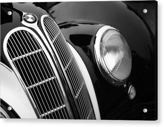 1938 Bmw 327-8 Cabriolet Grille Emblem Acrylic Print