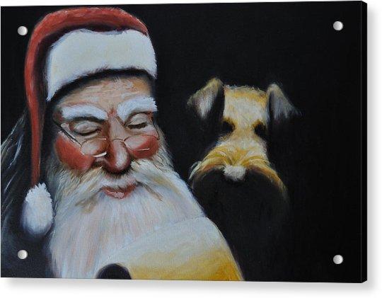 Airedale Christmas Acrylic Print