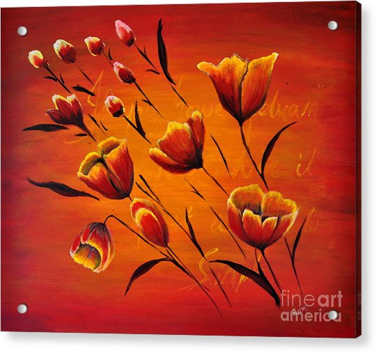 Blooming Flowers Acrylic Print