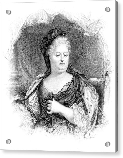 Charlotte-elisabeth Duchess Of Orleans Acrylic Print by Mary Evans Picture Library