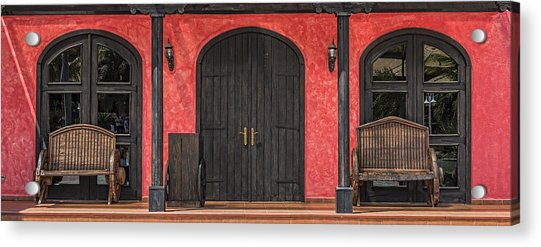 Colorful Mexican Doorway Acrylic Print