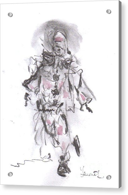 Dancing Clown Acrylic Print