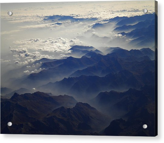 Acrylic Print featuring the photograph Flying Over The Alps In Europe by Colette V Hera  Guggenheim