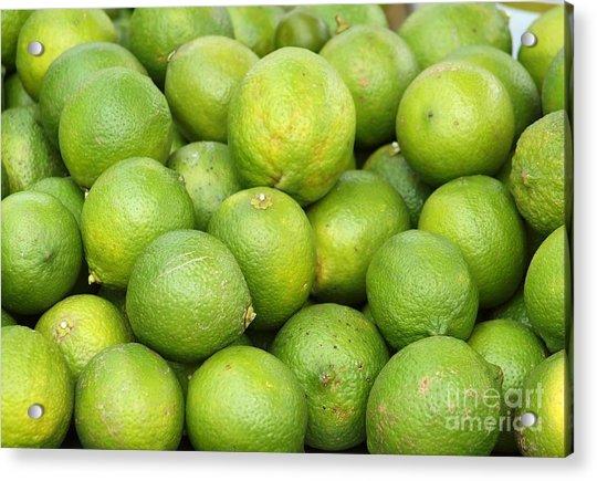 Fresh Green Lemons Acrylic Print