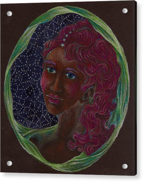 Goddess In The Window To The Sky Acrylic Print by Lydia Erickson