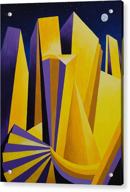 Golden City 2 Acrylic Print