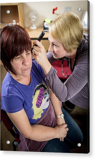 Gp Examining Patient Acrylic Print