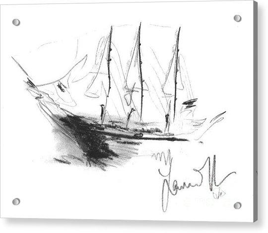 Great Men Sailing Acrylic Print