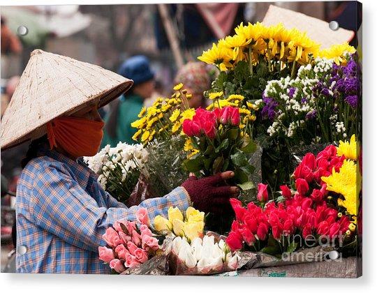 Hanoi Flowers 03 Acrylic Print