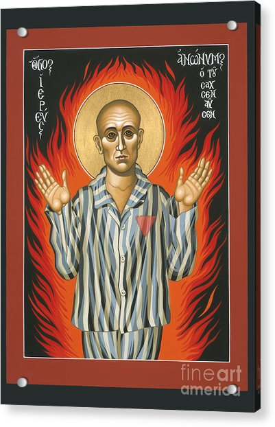 Holy Priest Anonymous One Of Sachsenhausen 013 Acrylic Print