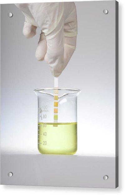 Home Urine Test Acrylic Print