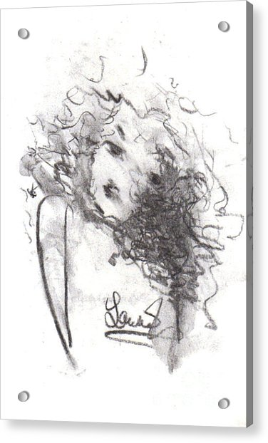 Acrylic Print featuring the drawing Just Me by Laurie Lundquist