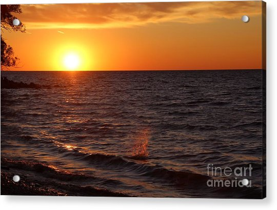 Acrylic Print featuring the photograph Lake Ontario Sunset by Jemmy Archer