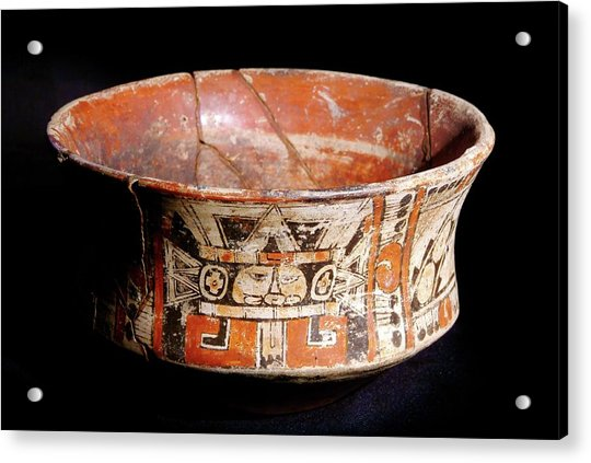 Mayan Vase Acrylic Print by Pasquale Sorrentino/science Photo Library