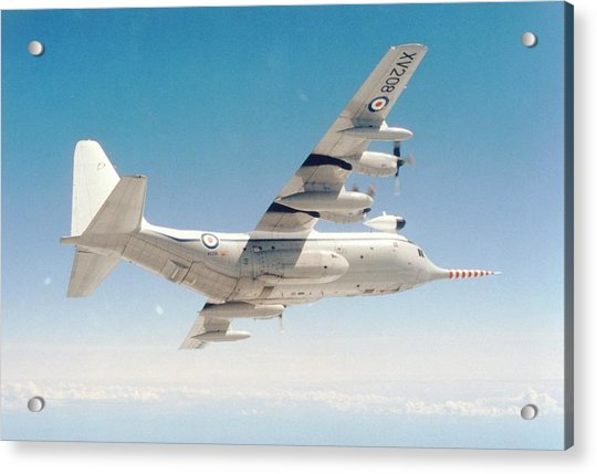 Met Office 'snoopy' Hercules Aircraft Acrylic Print by British Crown Copyright, The Met Office / Science Photo Library