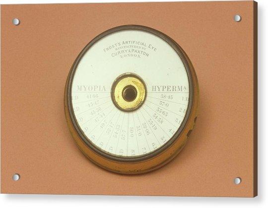 Model Eye For Ophthalmology Acrylic Print