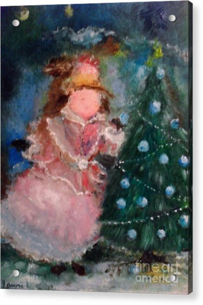 Acrylic Print featuring the painting Mother Christmas by Laurie Lundquist