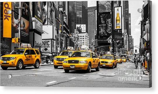 Nyc Yellow Cabs - Ck Acrylic Print