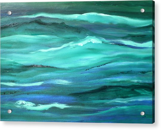 Acrylic Print featuring the painting Ocean Swell   by Valerie Anne Kelly